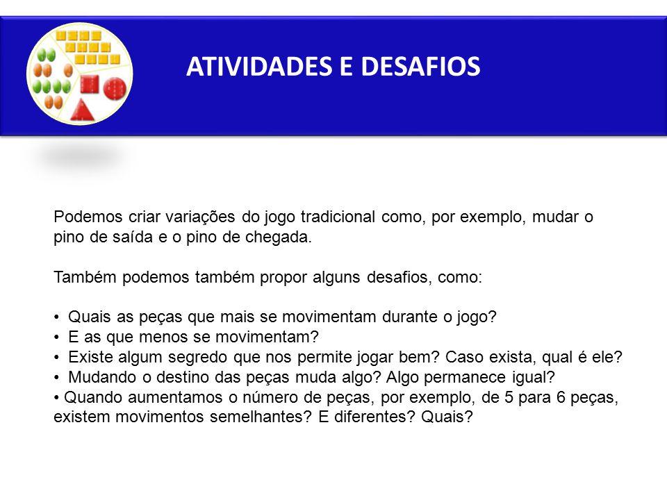 ATIVIDADES E DESAFIOS 1. ATIVIDADES