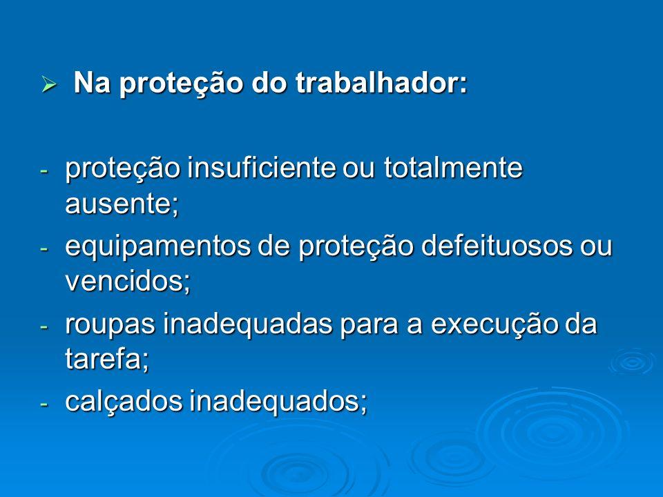 Na proteção do trabalhador: