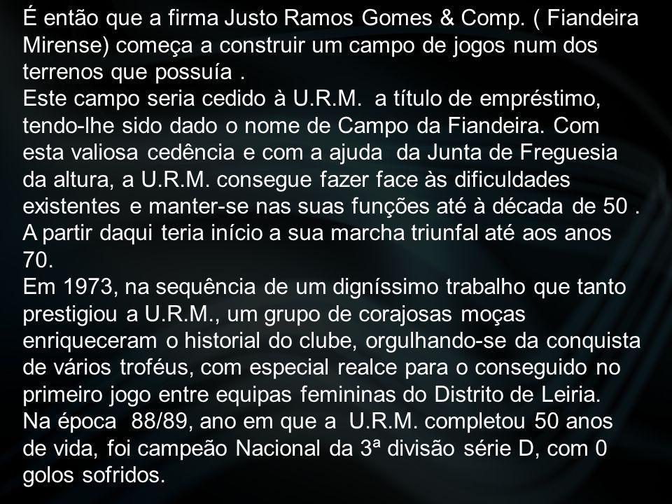 É então que a firma Justo Ramos Gomes & Comp