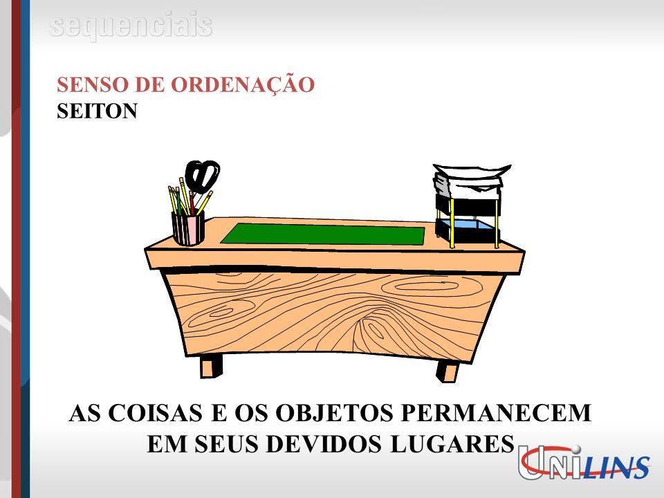 AS COISAS E OS OBJETOS PERMANECEM EM SEUS DEVIDOS LUGARES