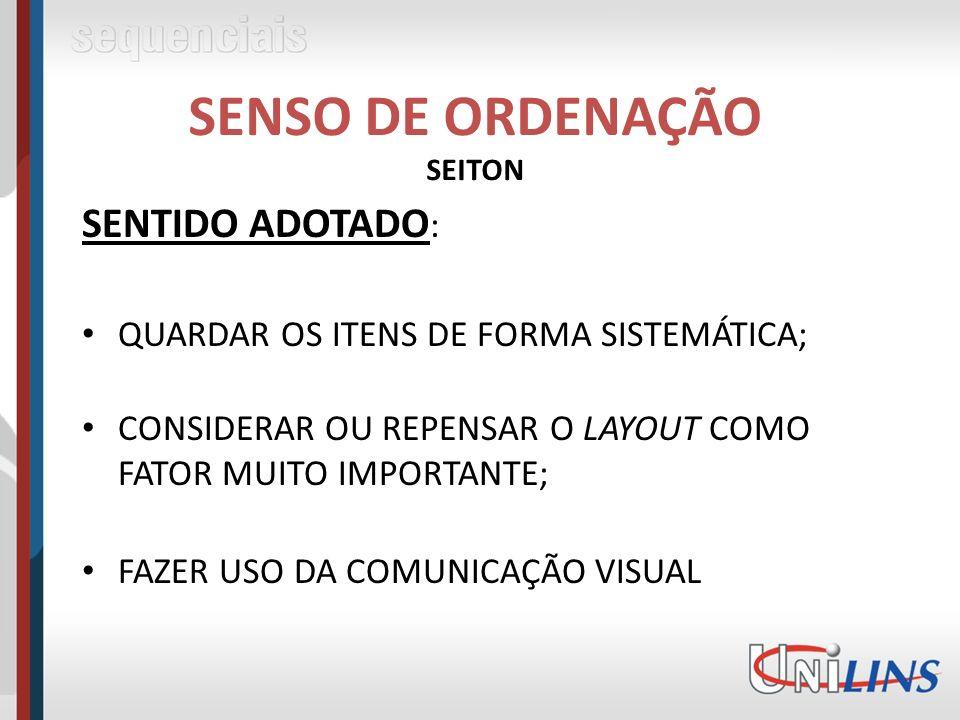 SENSO DE ORDENAÇÃO SEITON