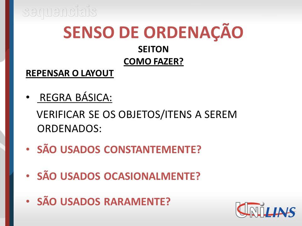 SENSO DE ORDENAÇÃO SEITON COMO FAZER