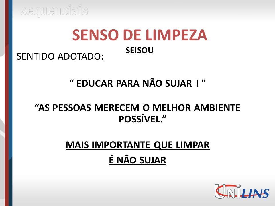 SENSO DE LIMPEZA SEISOU