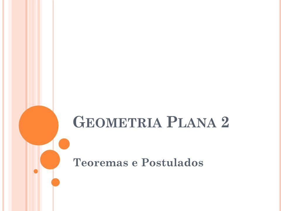 Geometria Plana 2 Teoremas e Postulados