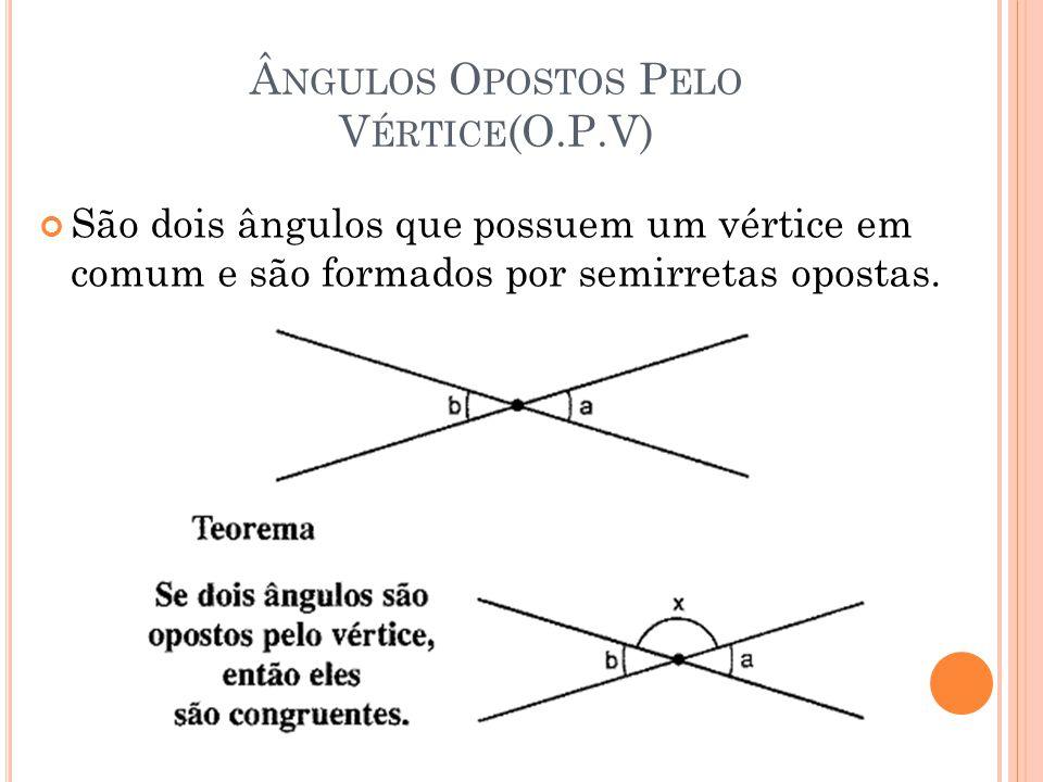 Ângulos Opostos Pelo Vértice(O.P.V)