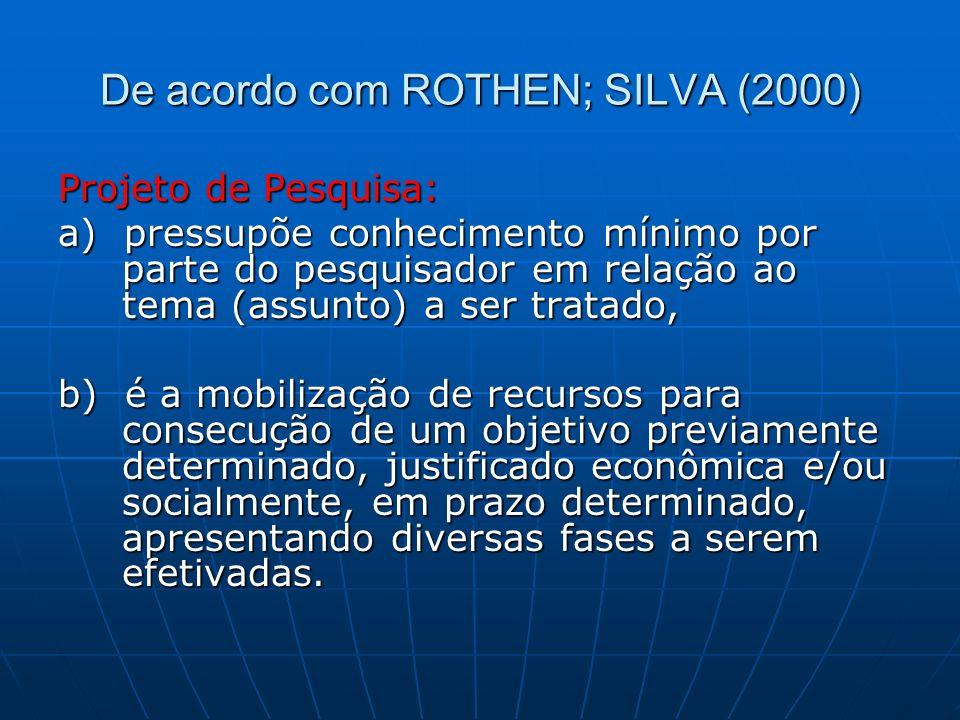 De acordo com ROTHEN; SILVA (2000)