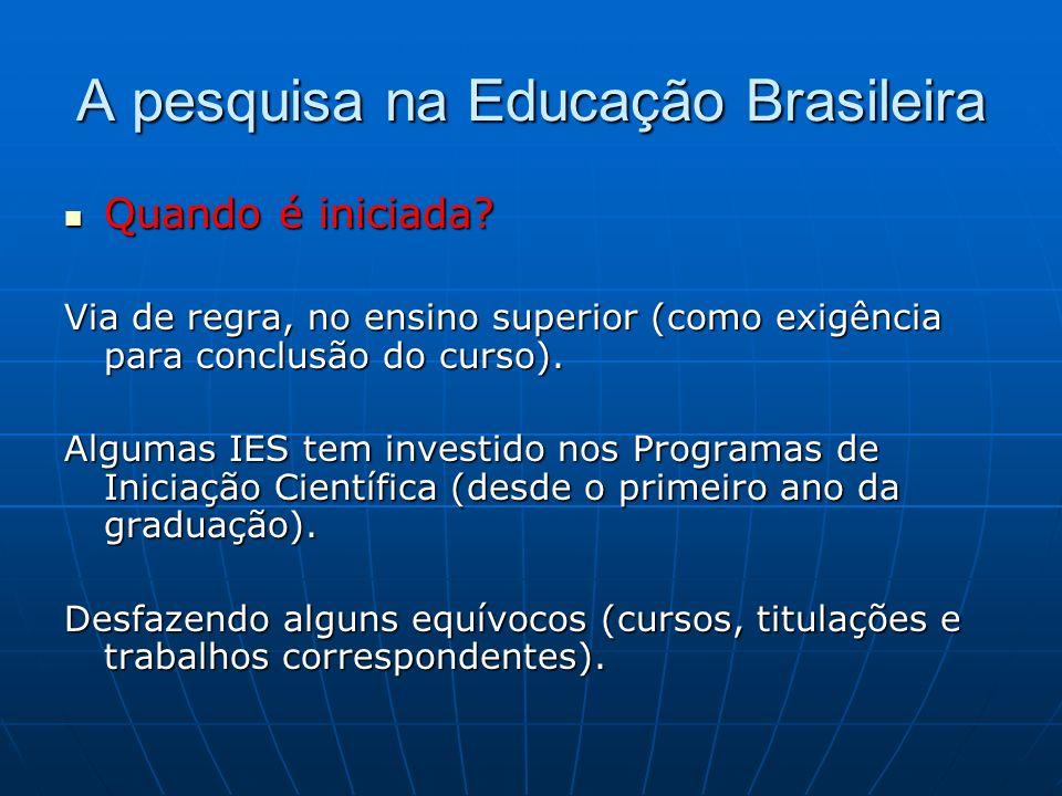 A pesquisa na Educação Brasileira
