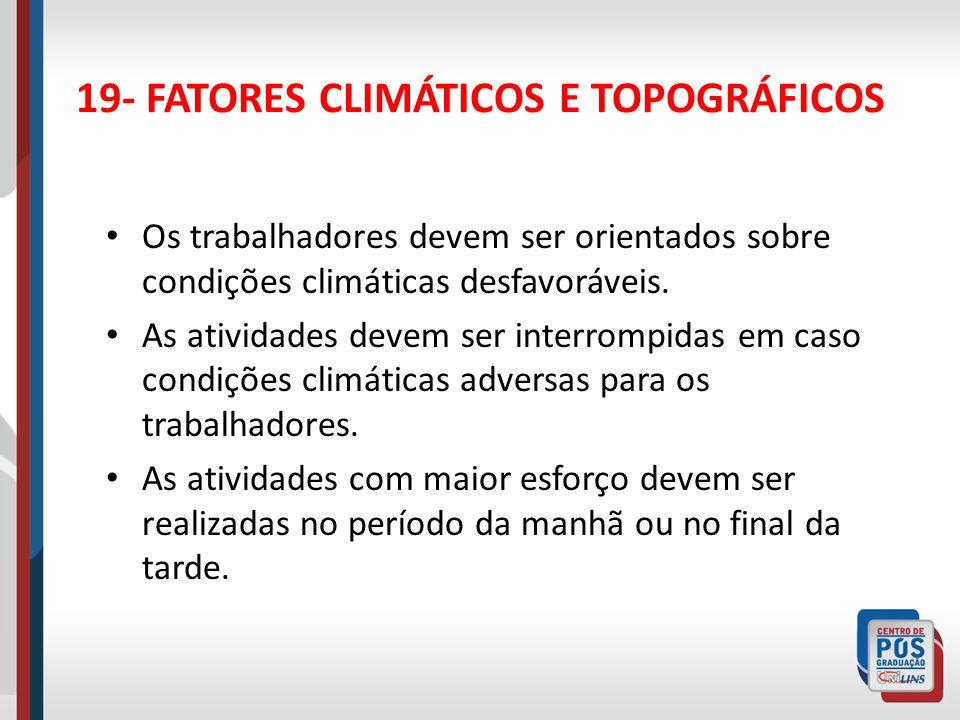 19- FATORES CLIMÁTICOS E TOPOGRÁFICOS