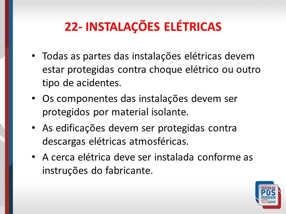 22- INSTALAÇÕES ELÉTRICAS