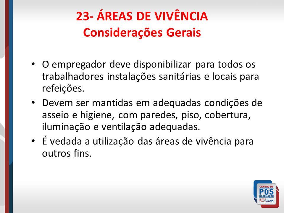23- ÁREAS DE VIVÊNCIA Considerações Gerais
