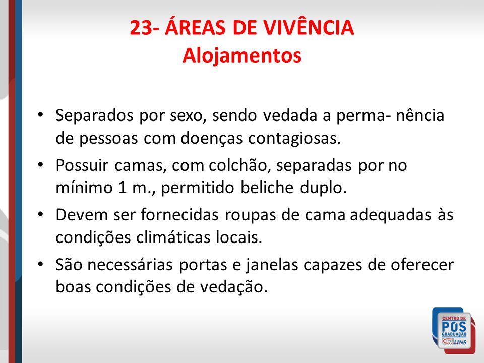 23- ÁREAS DE VIVÊNCIA Alojamentos