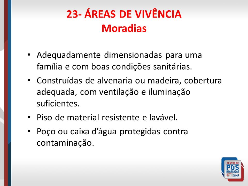 23- ÁREAS DE VIVÊNCIA Moradias