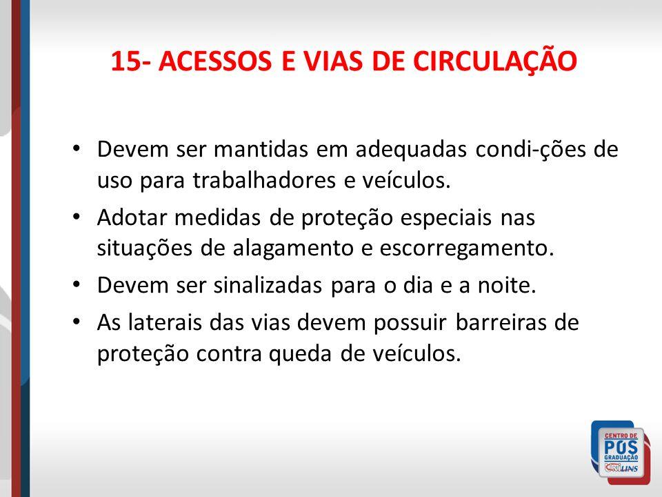 15- ACESSOS E VIAS DE CIRCULAÇÃO