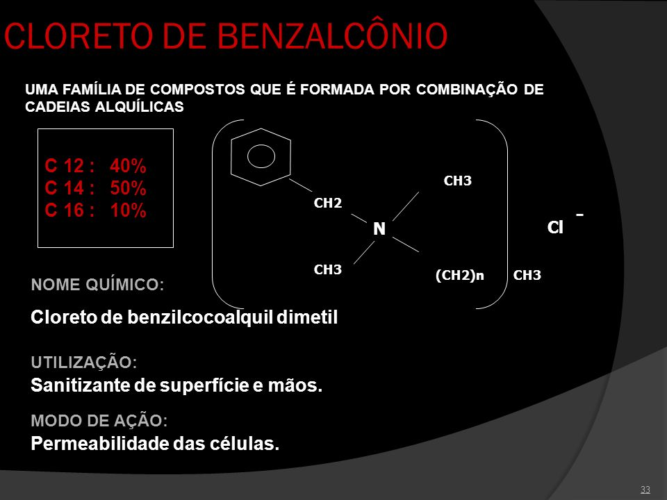 CLORETO DE BENZALCÔNIO