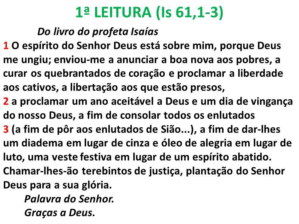 1ª LEITURA (Is 61,1-3)