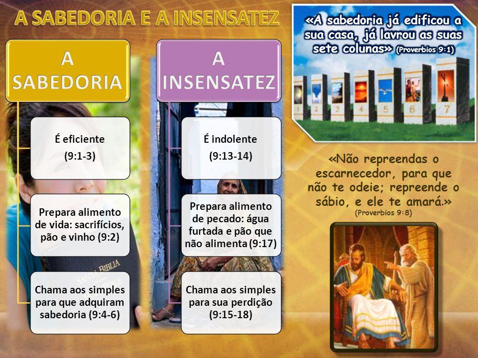 A SABEDORIA E A INSENSATEZ