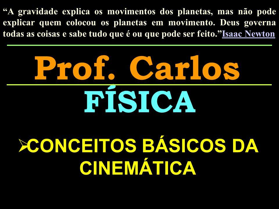 CONCEITOS BÁSICOS DA CINEMÁTICA