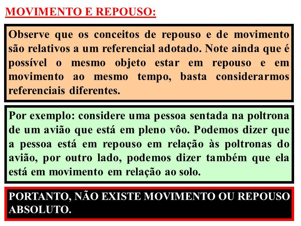 MOVIMENTO E REPOUSO: