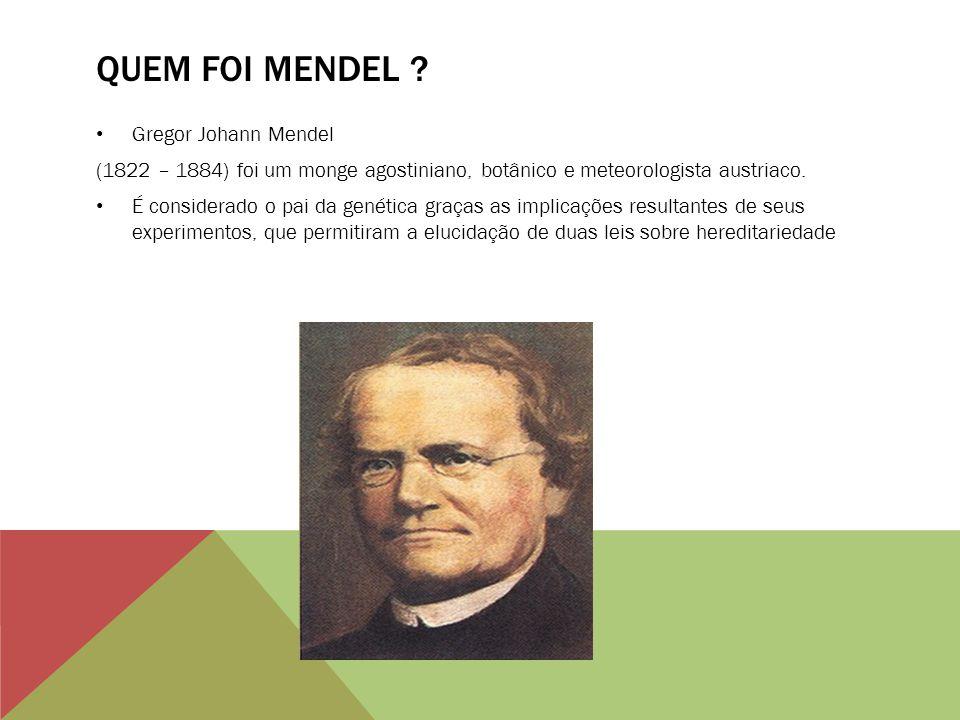 Quem foi mendel Gregor Johann Mendel