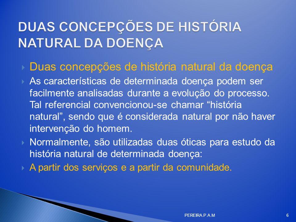 DUAS CONCEPÇÕES DE HISTÓRIA NATURAL DA DOENÇA