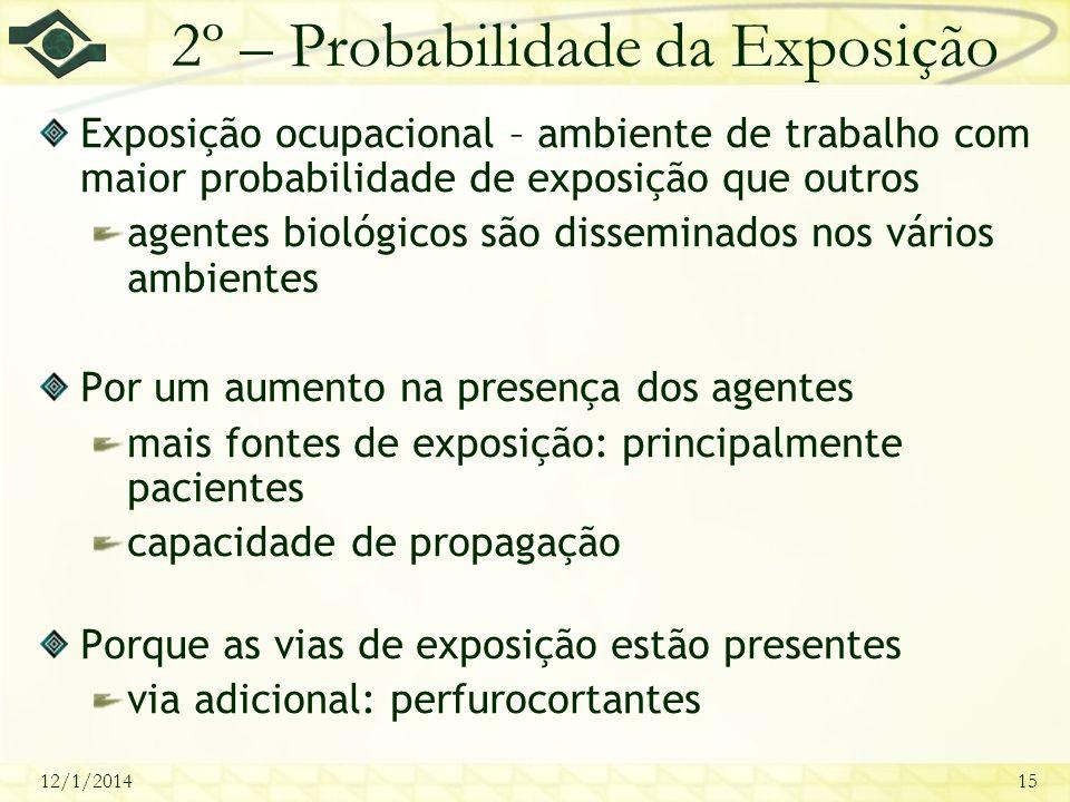 2º – Probabilidade da Exposição