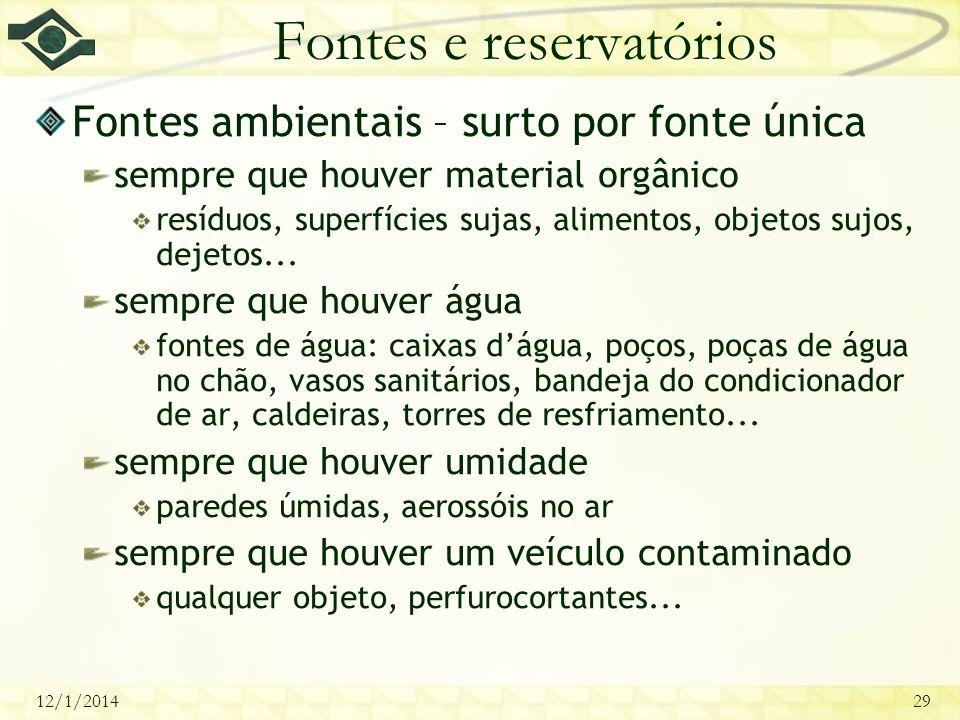 Fontes e reservatórios