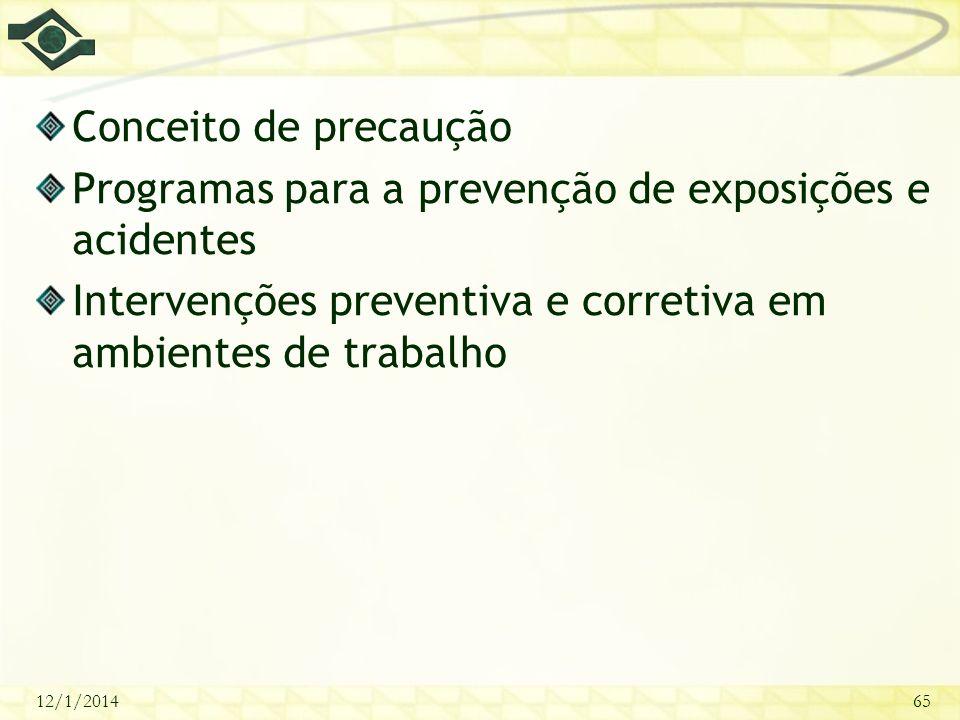 Programas para a prevenção de exposições e acidentes