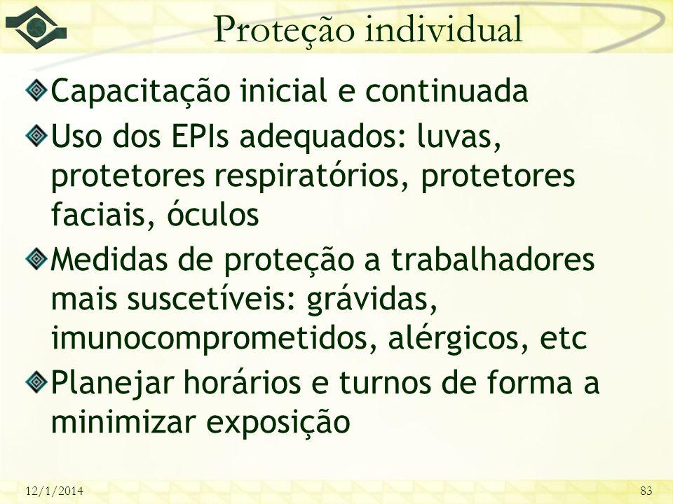 Proteção individual Capacitação inicial e continuada