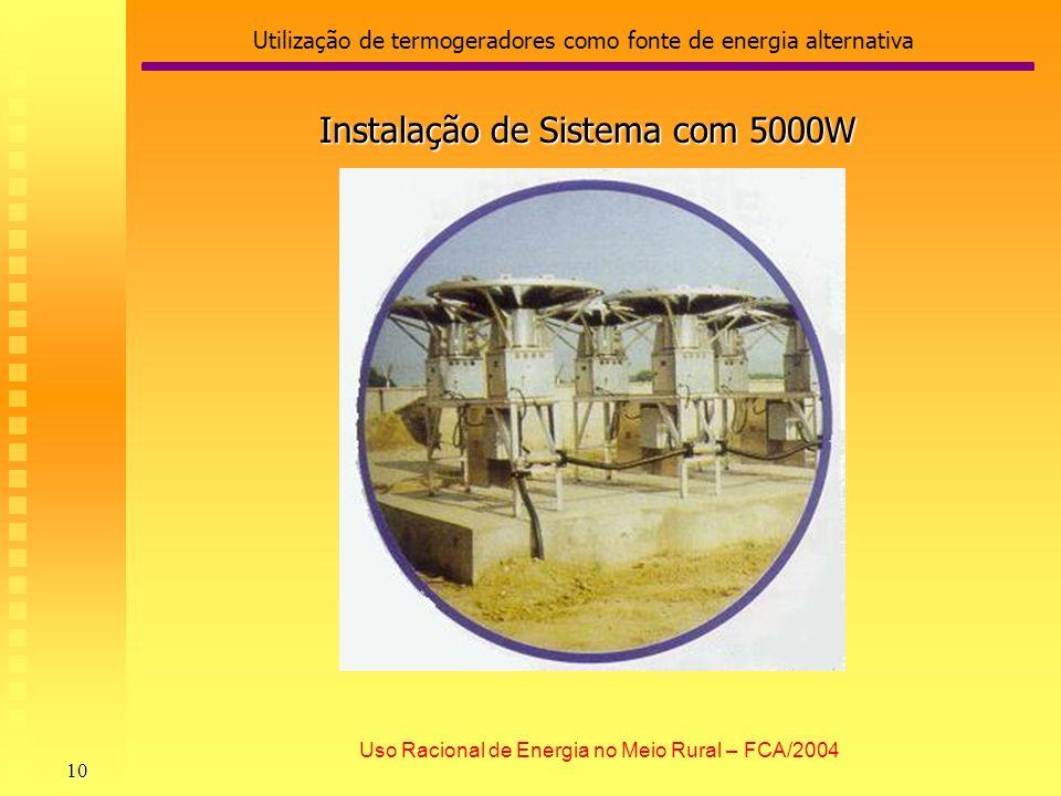 Utilização de termogeradores como fonte de energia alternativa