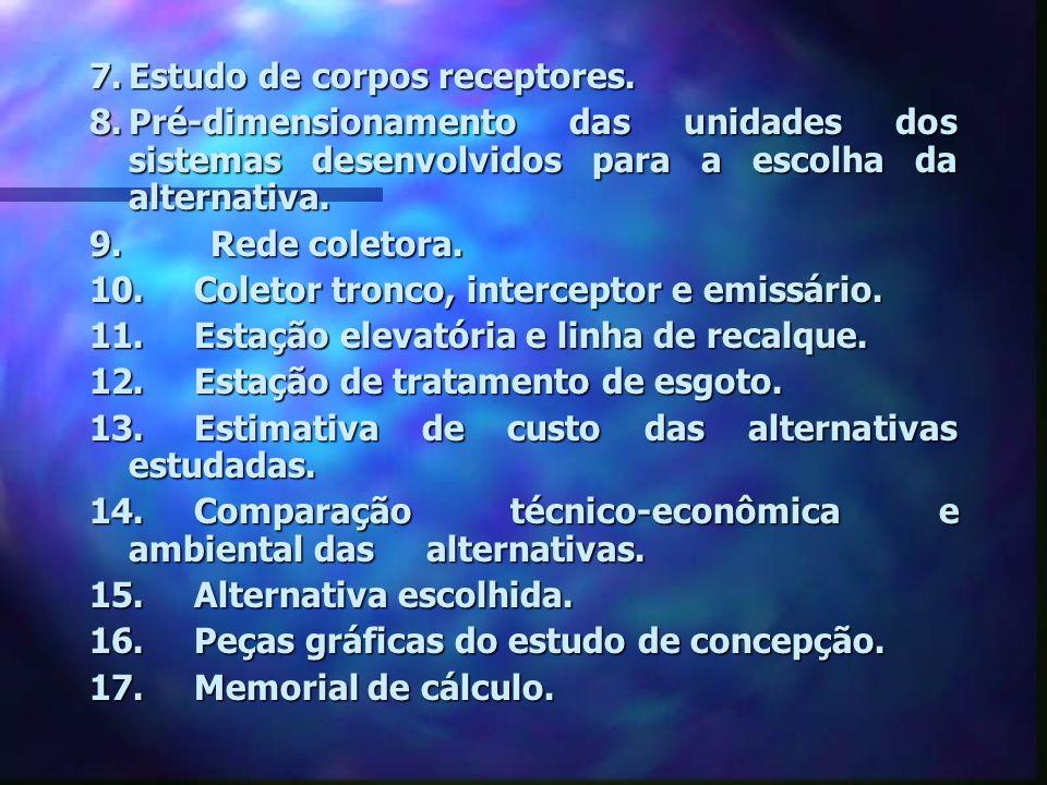 7. Estudo de corpos receptores.