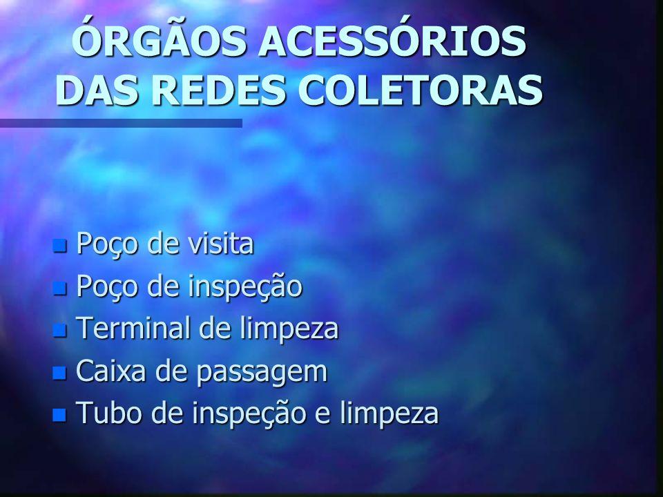 ÓRGÃOS ACESSÓRIOS DAS REDES COLETORAS