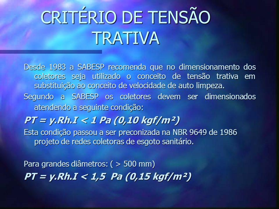 CRITÉRIO DE TENSÃO TRATIVA