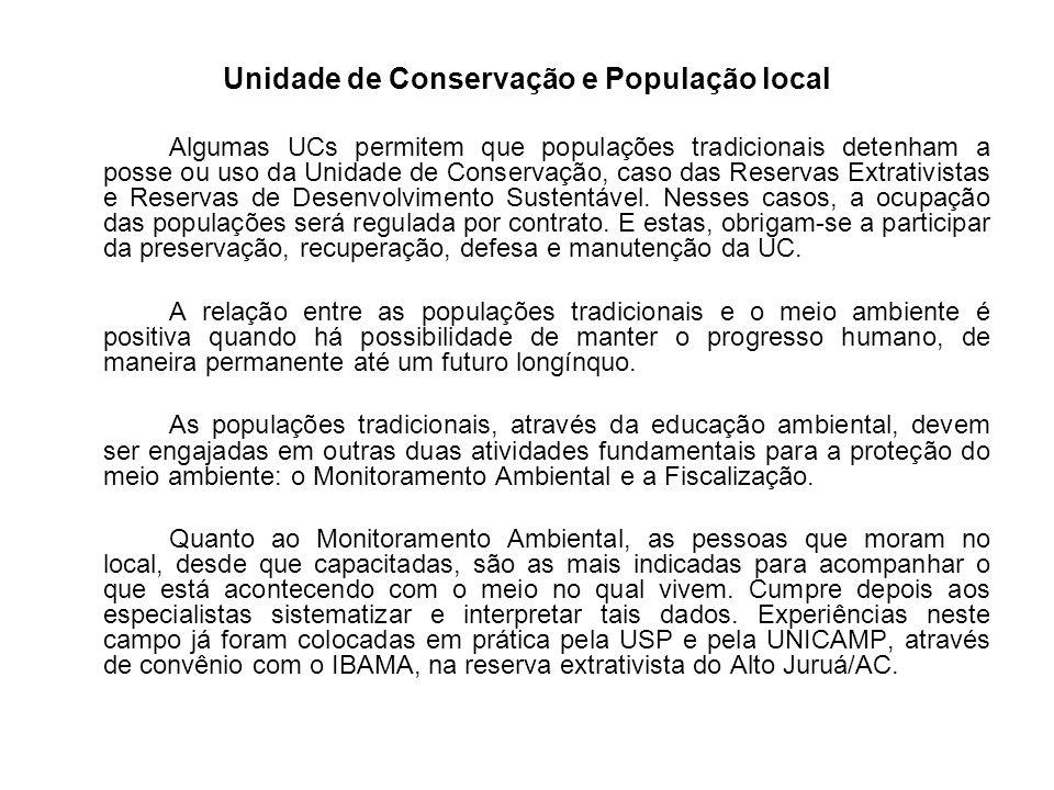 Unidade de Conservação e População local
