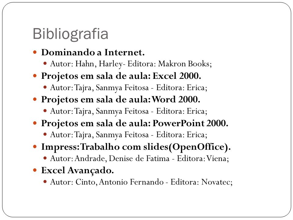 Bibliografia Dominando a Internet.