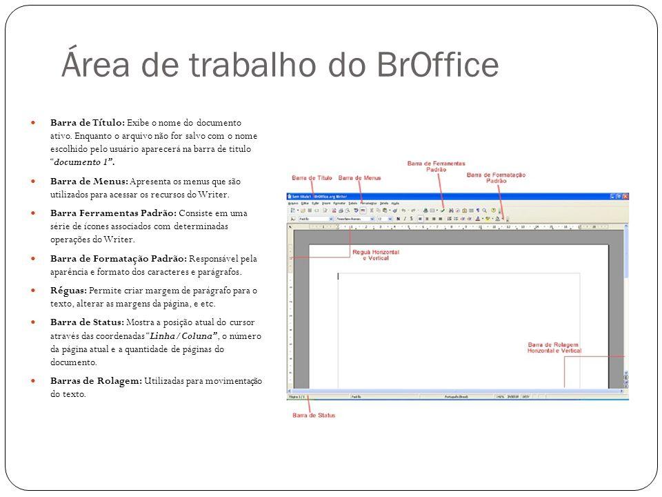 Área de trabalho do BrOffice