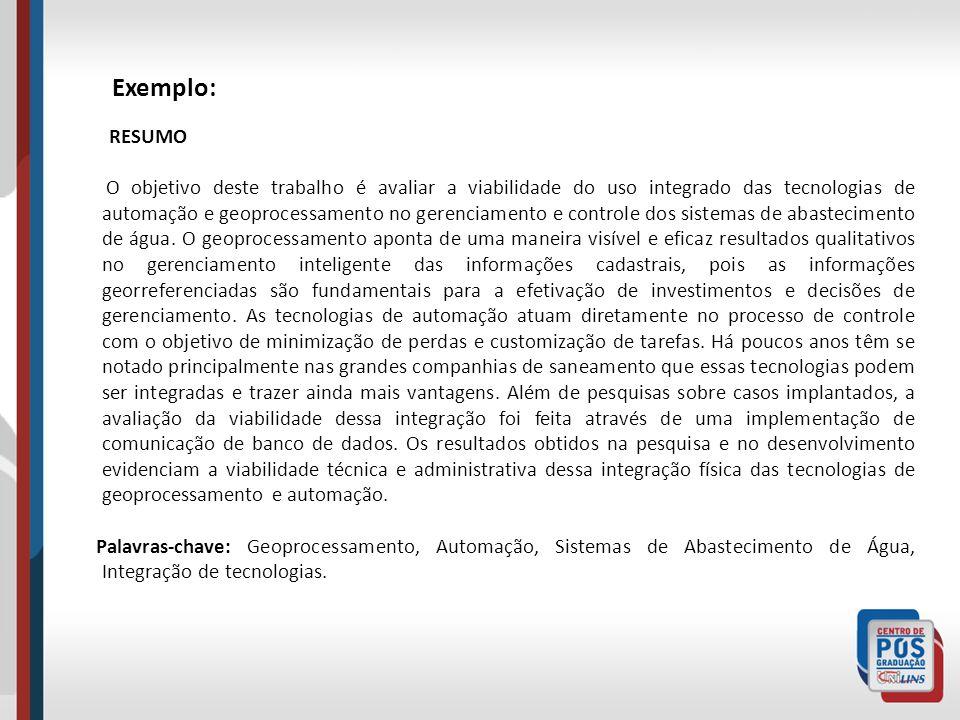 Exemplo: RESUMO.