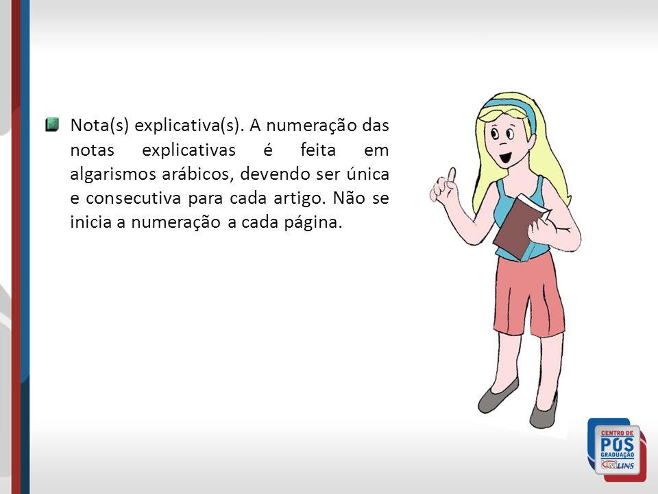 Nota(s) explicativa(s)