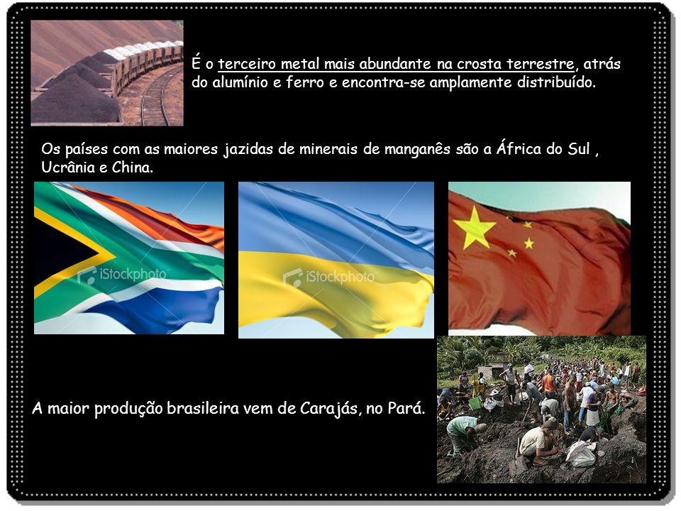 A maior produção brasileira vem de Carajás, no Pará.