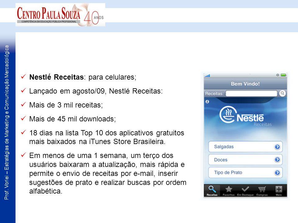Nestlé Receitas: para celulares;