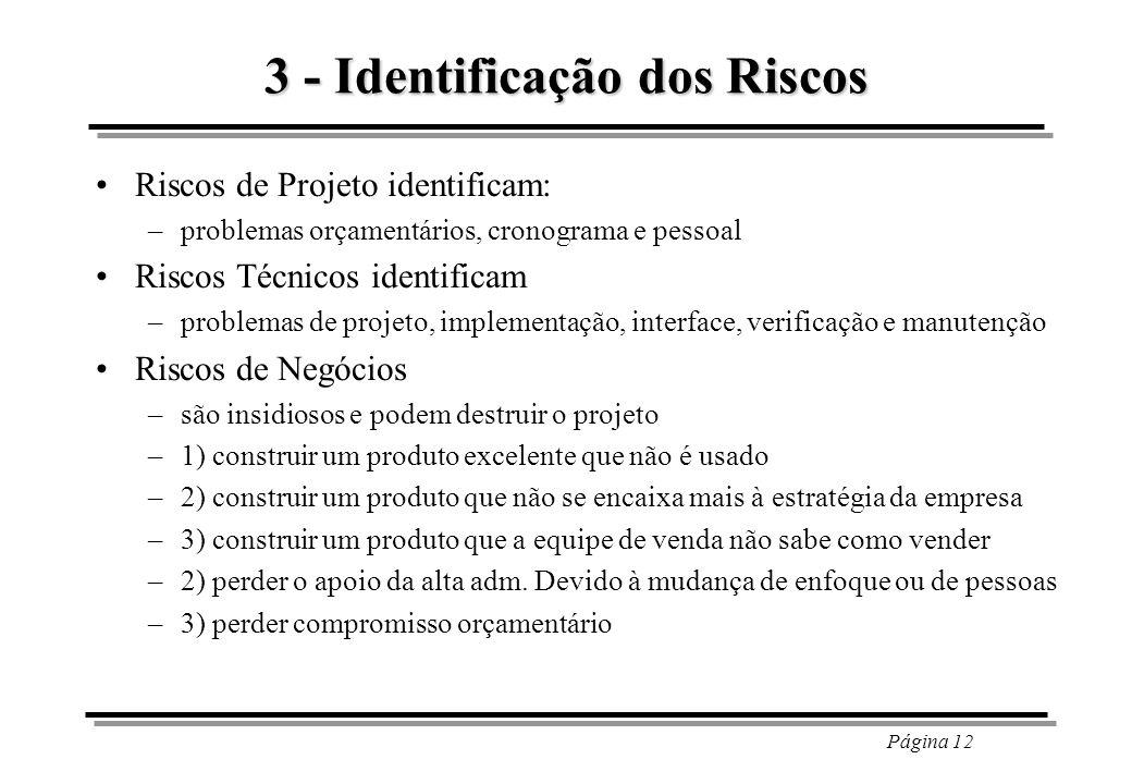 3 - Identificação dos Riscos