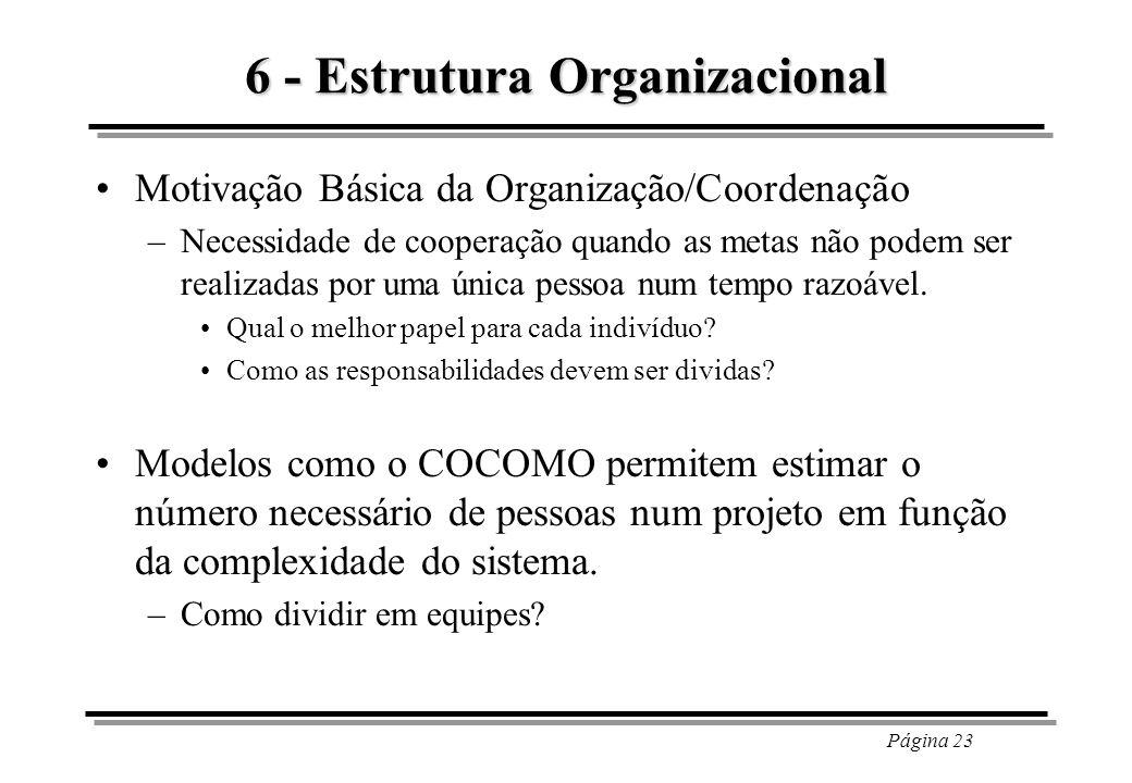 6 - Estrutura Organizacional