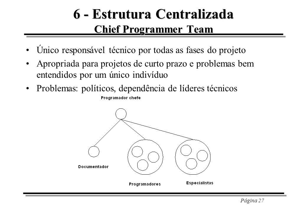 6 - Estrutura Centralizada Chief Programmer Team