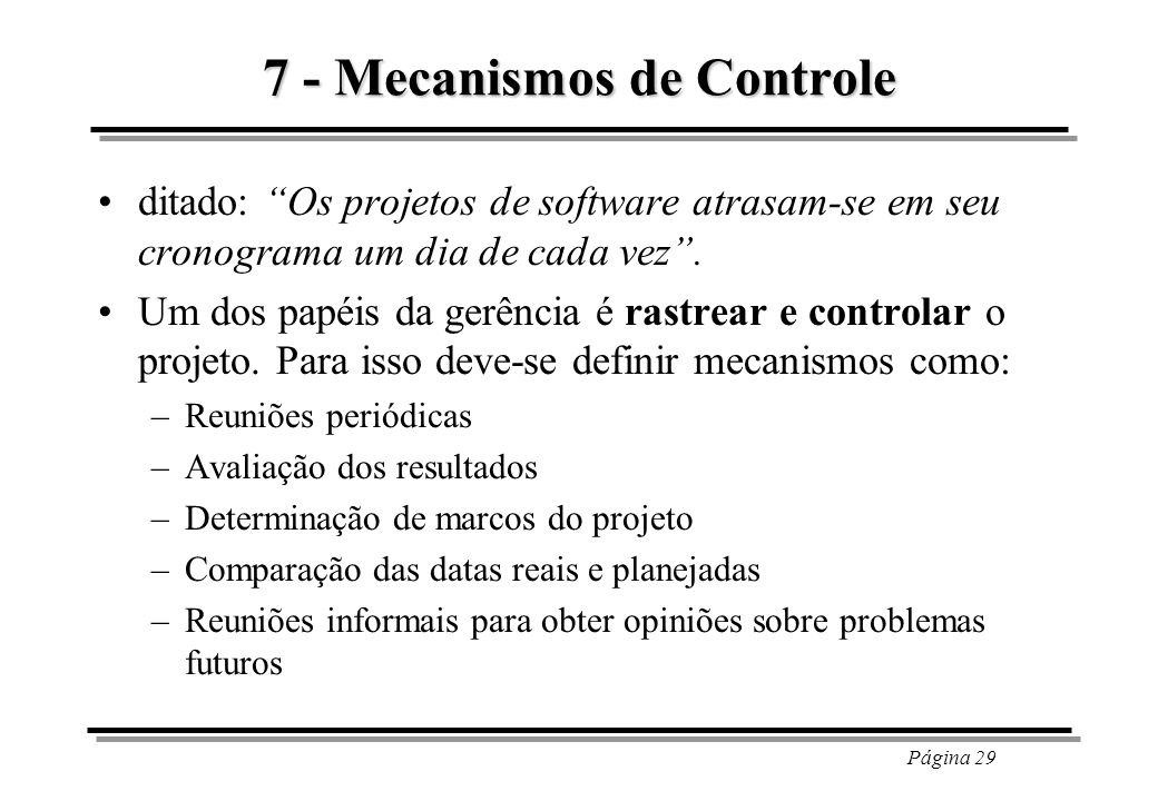 7 - Mecanismos de Controle