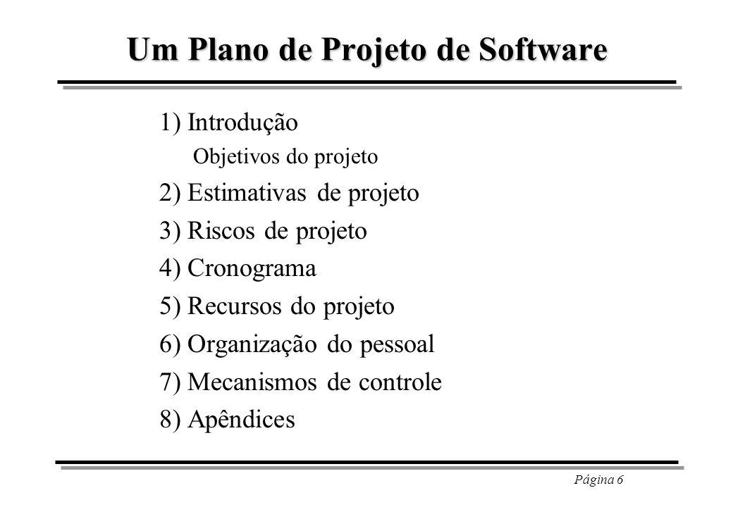 Um Plano de Projeto de Software