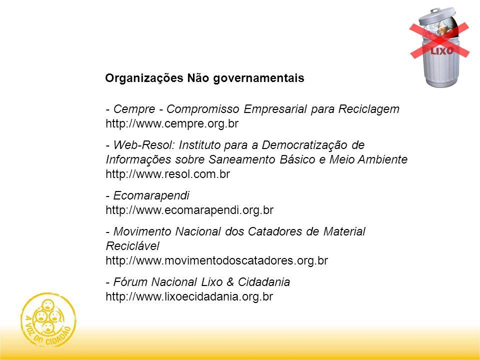Organizações Não governamentais
