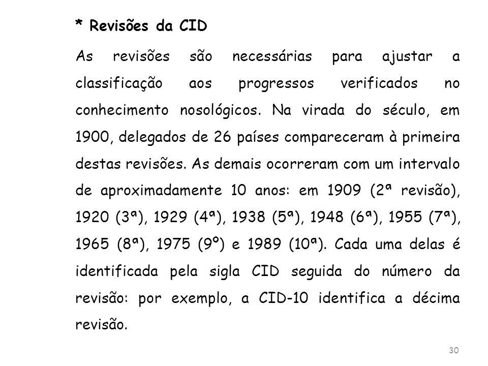 * Revisões da CID