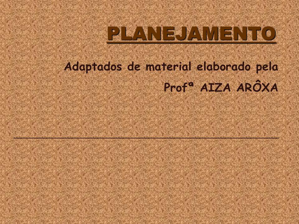 PLANEJAMENTO Adaptados de material elaborado pela Profª AIZA ARÔXA