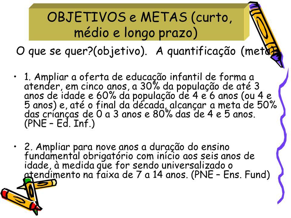 OBJETIVOS e METAS (curto, médio e longo prazo)