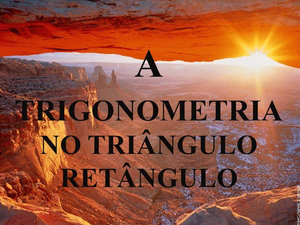 A TRIGONOMETRIA NO TRIÂNGULO RETÂNGULO
