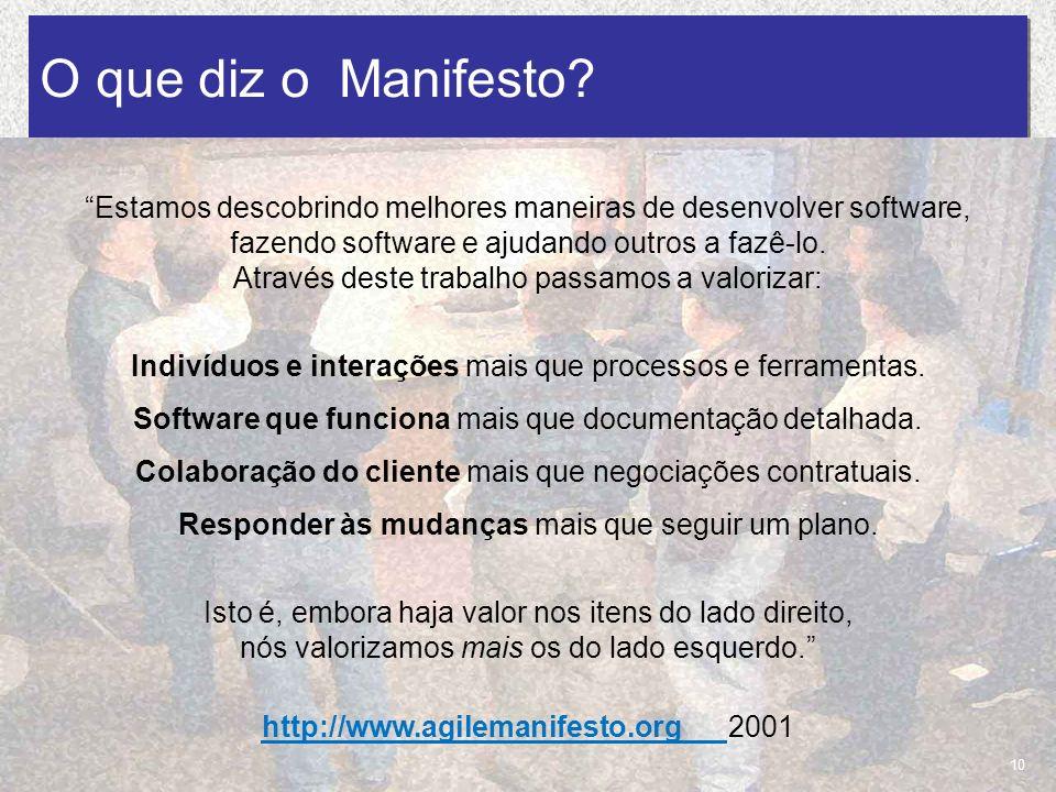 O que diz o Manifesto